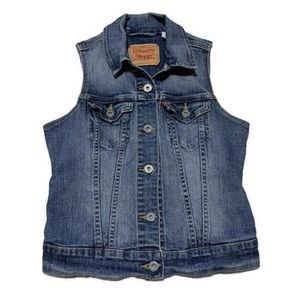 Levi's Women's Blue Denim Vest